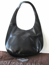Bottega Veneta Designer Handbag Purse Black Leather