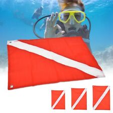 Red&White Scuba Flag Safety Signal Marker for Diving Snorkel Underwater Sport