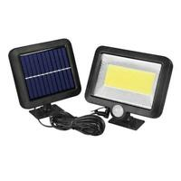 100LED COB Solar Power PIR Motion Sensor Outdoor Garden Lamp Wall Security O3I7