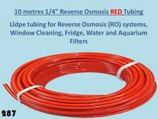 "10 metres 1/4"" RED lldpe pipe Tubing Reverse Osmosis Water Filter Units 10m 287"