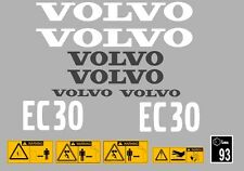 VOLVO EC30 Escavatore COMPLETO ADESIVO DECALCOMANIA Set con Safety AVVERTIMENTO