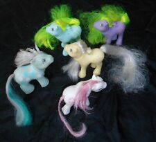 MY LITTLE PONY, SUPER LOT OF ORIGINAL PONIES, FLUTTERS, BABIES, LOT OF 5, 1986!