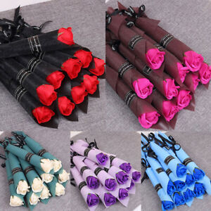 Artificial Rose Soap Flower Bouquet Wedding Party Birthday Mothers Day Gift Deco