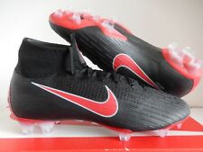 "NIKE MERCURIAL SUPERFLY 360 ELITE FG ID ""FLYKNIT"" BLACK-RED SZ 7.5 [AQ4857-990]"