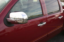 07-2013 GMC Sierra chrome DOOR HANDLE MIRROR cover trim