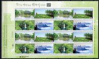 Korea Süd 2012 Tourismus II Wasserfall Landschaften 2887-90 Kleinbogen MNH