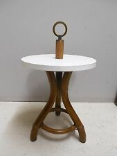 """Ficks Reed Vintage Bamboo Rattan Round Accent Table 16""""W x 19.5""""H"""