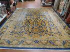 "1920's Antique rare larestan rug 12x14'10"" Mahal Sultanabad Dragon Heriz Pattern"