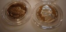 Lot of 2,1976 S Jefferson Nickel Gem Proof From Roll; USA Coins in capsules.
