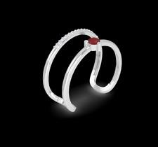 "IGI Certified Women's ""Orbit"" Ring Size 5 Natural Diamonds VS-SI 14K White Gold"