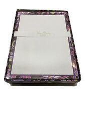 NWT Vera Bradley Stationery Set Purple Punch