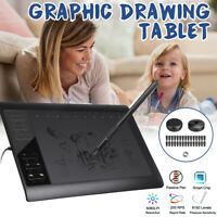 "10*6"" Digital Drawing Tablet 220 Point Art Painting Board Quick Reading 5080LPI"