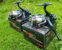 2 X NGT ANGLING PURSUITS MAX 60 2 BB CARP FISHING REELS LOADED 10LB LINE TACKLE