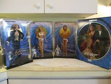 James Bond 007 Barbie Dolls Set Of Four Dolls~NEW NRFB Boxes Are Factory Sealed