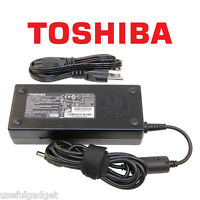 Original OEM Toshiba 120W AC Charger Power Adapter Cord For Qosmio series