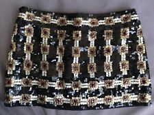 Women's Pinko sequin mini skirt size uk8