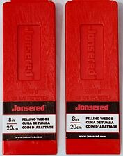 """JONSERED 2 Pack 8"""" NON SPIKED PLASTIC FELLING WEDGE 581814401 FREE SHIPPING!!"""