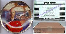 PICARD - PLATINUM EDGE PLATE Star Trek: Next Gen by ERNST 1989 MINT in BOX!