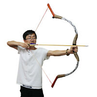 """50lbs 56"""" Hunting Archery Recurve Bow Mongolia Horse Bow Shooting Target Longbow"""