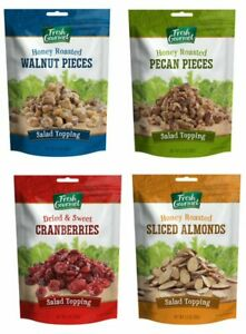 Fresh Gourmet Salad Toppings-3 each Walnuts,Pecans,Almonds OR Cranberries-3.5z
