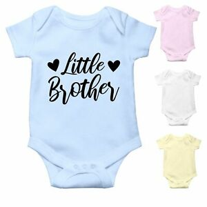 Little Brother   Cute Baby Grow Baby Bodysuit Baby Vest   Pregnancy Announcement