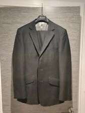 AQUASCUTUM - Mens BLACK WOOL SUIT - 36 Reg - W30 L32