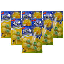 6x Max CHASSE 5 Citrus Sparkle toilette Rim Block cleaner (Twin Pack)