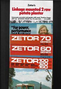 ZETOR 60/70/100/120/160 ETC SERIES TRACTORS BULK LOT OF 5 BROCHURE COLLECTION #3