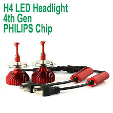 H4 60W Car Headlights with PHILIPS Chips LED Headlamp Kit Car Hi/Lo Beam Bulb