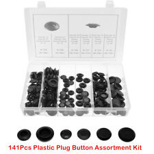 "Auto Body 141Pcs Plastic Plug Button Assortment Kit For 1/2"" 3/4"" 3/8"" 7/8"" Hole"
