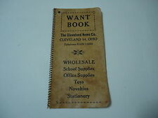 Cleveland News Wholesale Co. Vintage Want Book Stationary Supplies Ohio