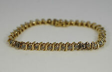 Round Brilliant Diamond Tennis Bracelet 2.4cts 14k Yellow Gold 7""