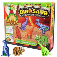 Dinosaure moule peinture plâtre Kit Réfrigérateur Aimants Pour Enfants Activité Craft Art Set