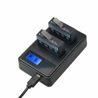 Travel Smart Charger LCD Screen Dual Slots Battery for GoPro Hero 6 5 4 3+ 3