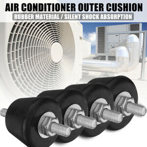 4Pcs Split Air Conditioner Outer Rubber Cushion Isolator Mounting Bracket Pa