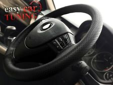 For VW POLO MK5 2009 + black perforated real leather steering wheel cover DIY
