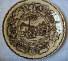 Vernon Kilns plate~California Centennial~Early Transportation~artist signed-NR