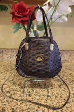 SERGIO CERRUTI Brown  Leather Embossed Bucket Crossbody Bag u110
