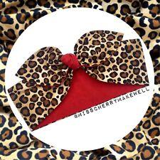 Leopard Animal Print Rockabilly Vintage 1950's Head Scarf Hair Tie Bandana Bow