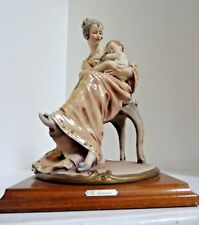 SIGNED GIUSEPPE ARMANI Mother and Child figurine Capodimonte Florence Italy