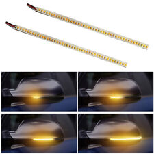 2Pcs LED Error Free Rear Mirrors Flexible Turn Signal Strip Light Lamp Universal