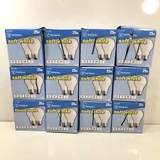 Lot Of 12 - 2 Pack Westinghouse 25 Watt A19 Incandescent Soft White Light Bulb