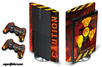 Skin Decal Wrap For PS3 Super Slim PlayStation 3  Console + Controller Meltdown