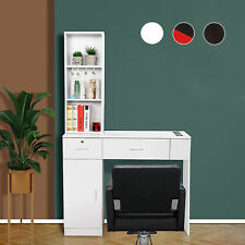 Wall Mount Salon Station Barber Styling Cabinet with 2 Drawers Spa Equipment