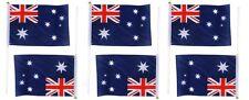 6x Australian Flag Australia Day Aussie Flags w/ Handle 21cm X 14cm Wave Flag
