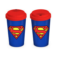 Official DC Comics Superman Ceramic Travel Thermal Mug Great Gift