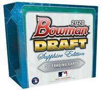 2020 Bowman Draft Sapphire Edition 1 Hobby Box TWO(2) Random Teams