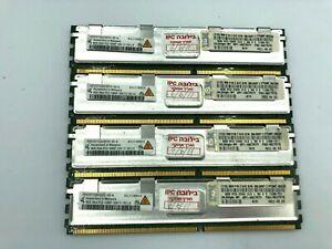 4 pcs. Qimonda. 8GB DDR2 PC2-5300F HYS72T1G523EFD-3S-A Memory RAM.
