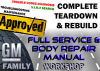 Pontiac GTO 2004-2006 Complete Service Body Workshop Repair Owners Manual DVD