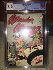 Wonder Woman #24 CGC 7.5 DC 1947 DOUBLE COVER! 8.0 Interior! White Pages! L6 cm
